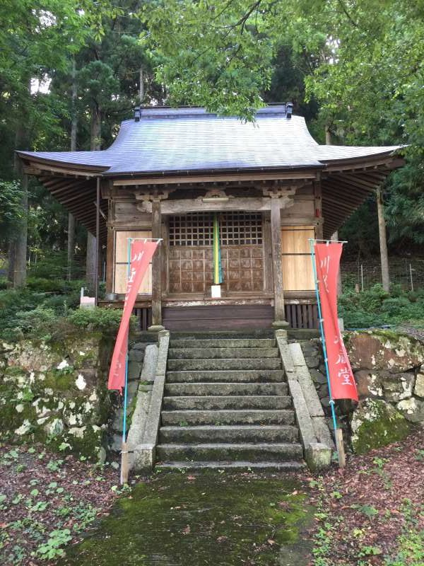 [Aug.] Koyasu Temple Hall Enshrining the Deity of Mercy, at a Small Hamlet along Lake Yogo