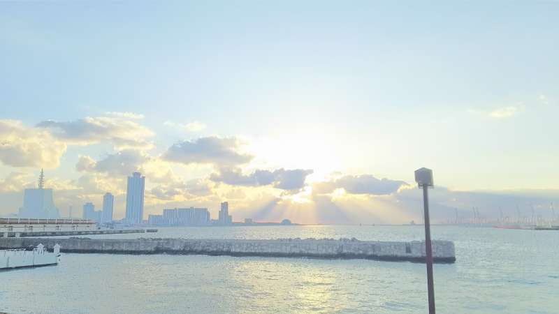 Sunset@Osaka bay