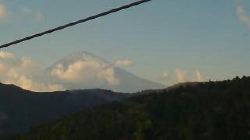 Enjoy riding of rope-way into Hakone mountain