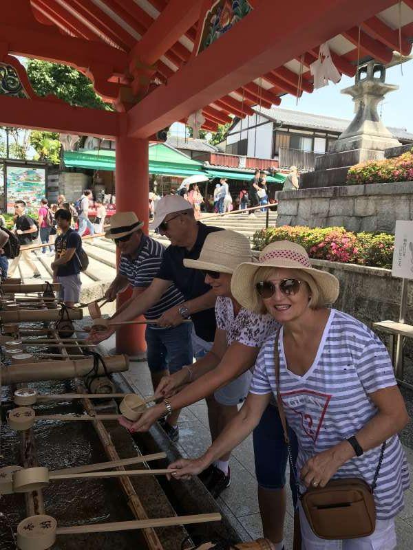 Purification prior to shrine visit, Fushimi-Inari shrine, Kyoto city, Kyoto