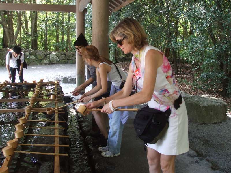 Temizusha (ablution front), Ise-Jingu Grand shrine (Inner shrine), Ise, Mie