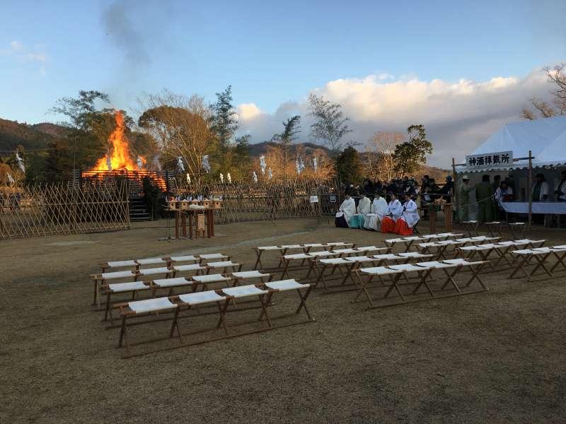 Wakakusayama Mountain Burning Ceremony in January