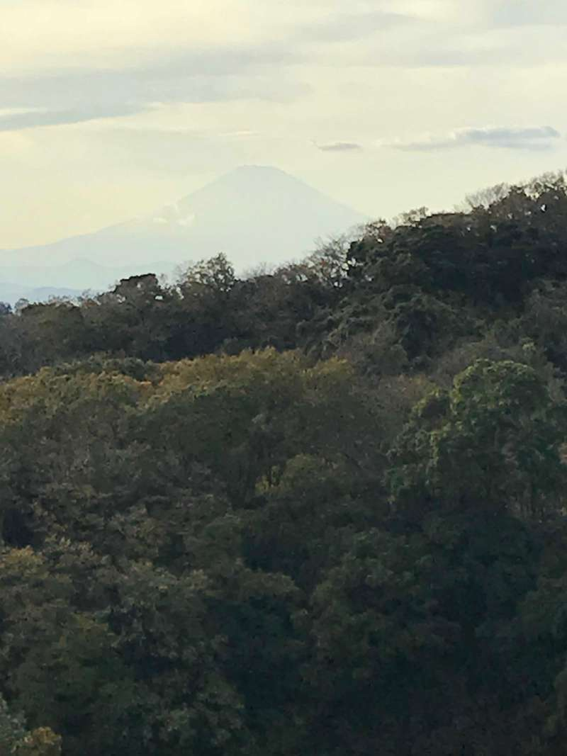 View of Mt. Fuji from Kencho-ji Temple hill(N3). A similar view can be seen from Engakuji Temple hill (N1).