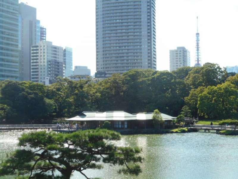 Nakajima no chaya Tea House and Tokyo Tower (333m)