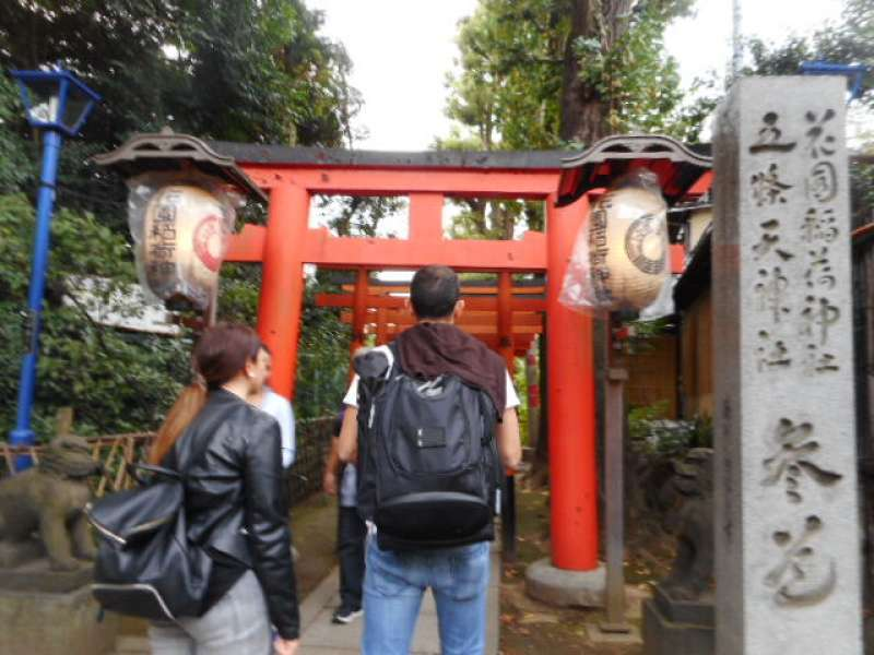 Hanazono Inari Shrine at Ueno Park