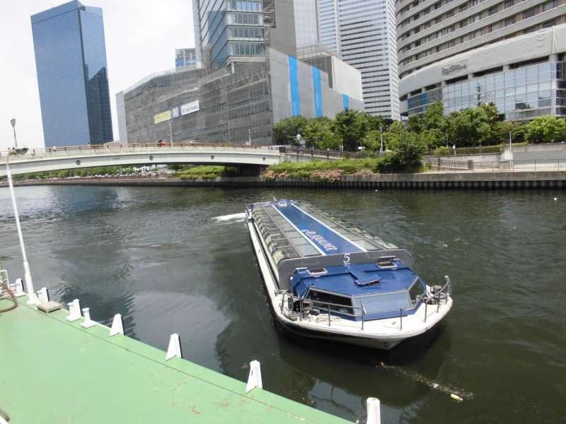 Osaka river cruise: One hour cruise @1700 yen (Optional tour item)