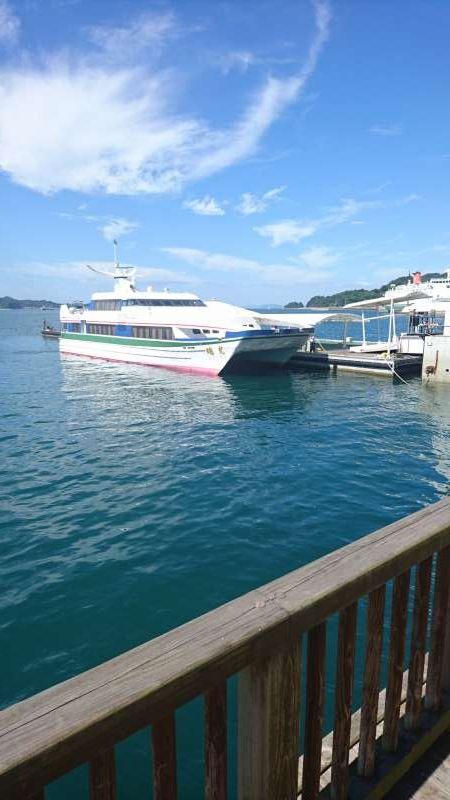 Matsuyama Tourist Port where passenger ships from Hiroshima come.