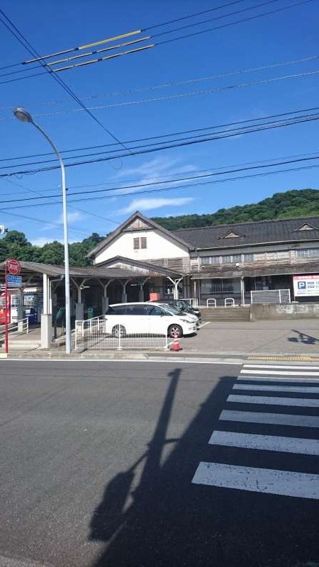 Takahama Station. In old days, a tourist port used to be located  here..