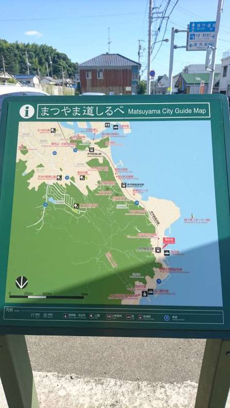 As shown on this map, the trains run along the coast line.