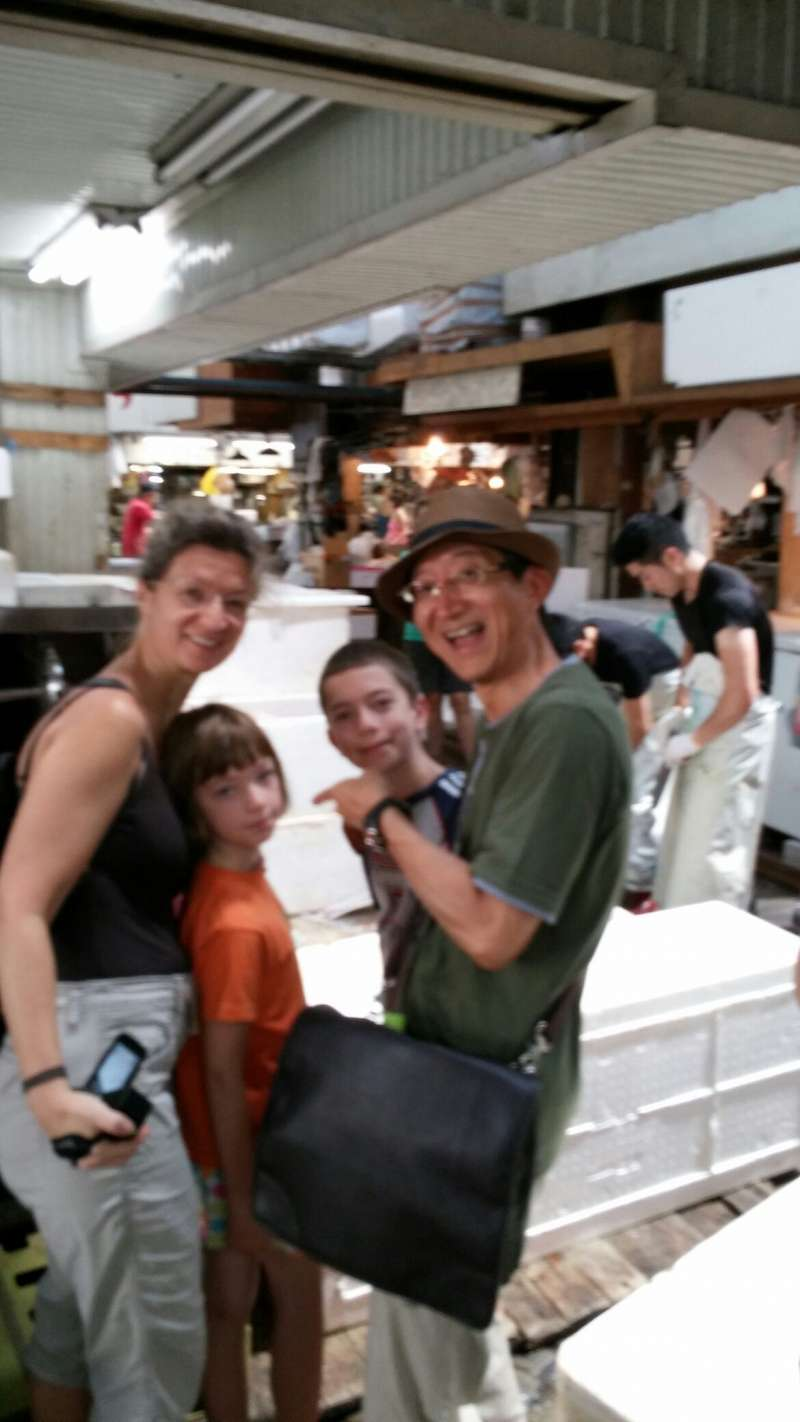 With guests at Asakusa