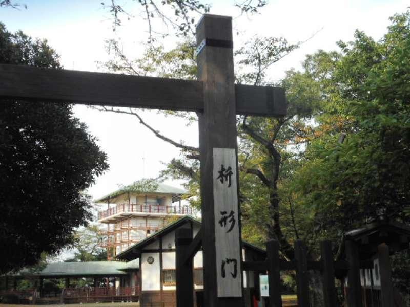 The gate of Mt. Masugata, a hill of 84m high