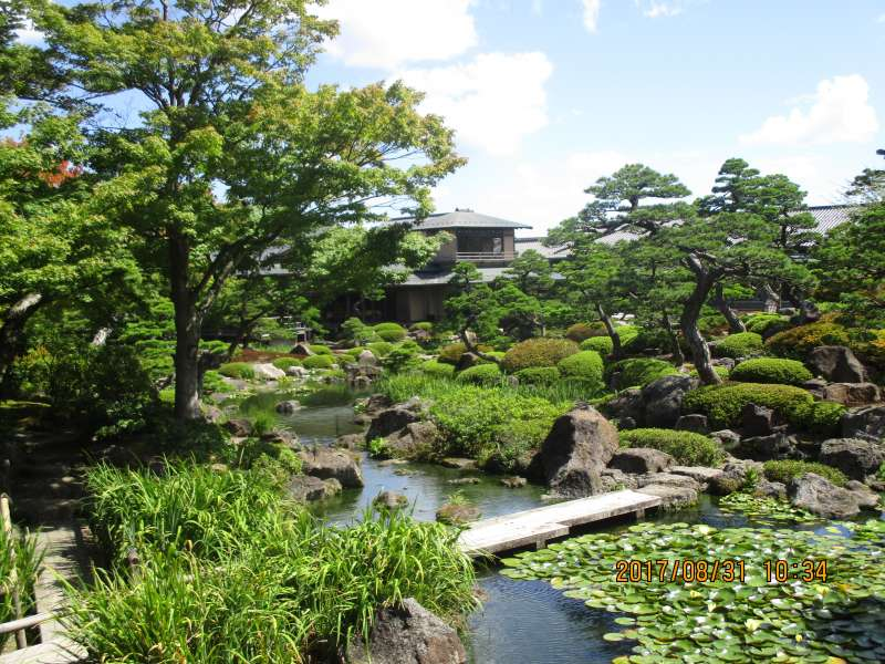 Beautiful green garden in Yuushien