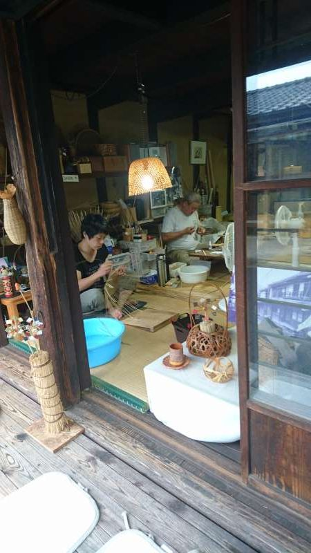 People are making bamboo products one by one manually.