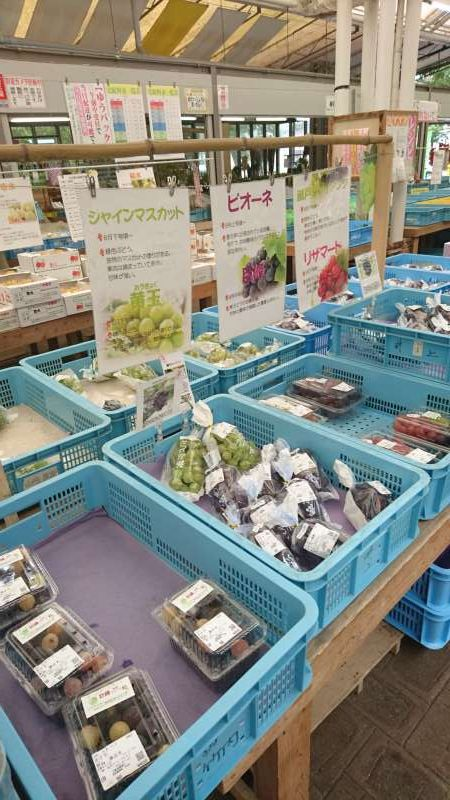There is a market selling farmers' produce in it.