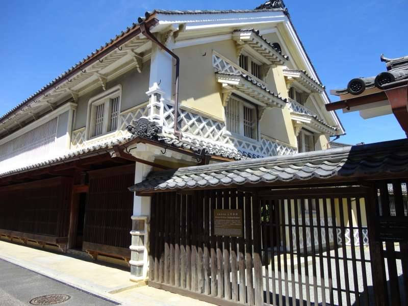 Kamihaga Residence. This was once the home of a wealthy merchant , the Kamihaga family,  who made a fortune in the production of Japanese vegetable wax. It is designated as a national important cultural asset.