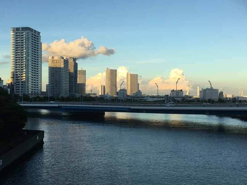 The route from Yokohama station to Modern Business distrivts