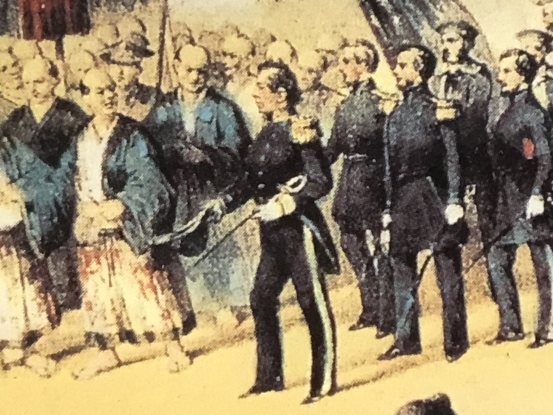 Arrival of Perry, who pushed Japanese government to open the port. It was the start of development of Japan!