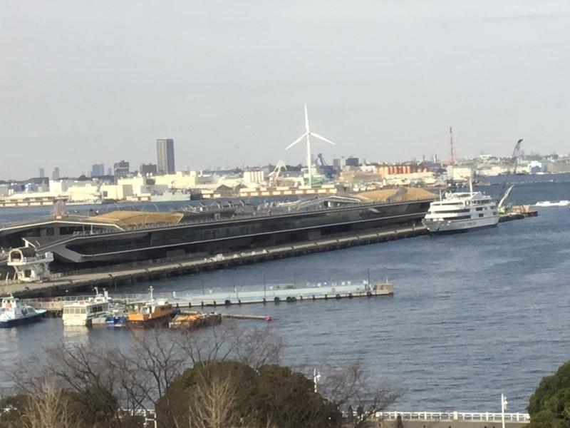 Osanbashi pier, the first and major pier in Yokohama
