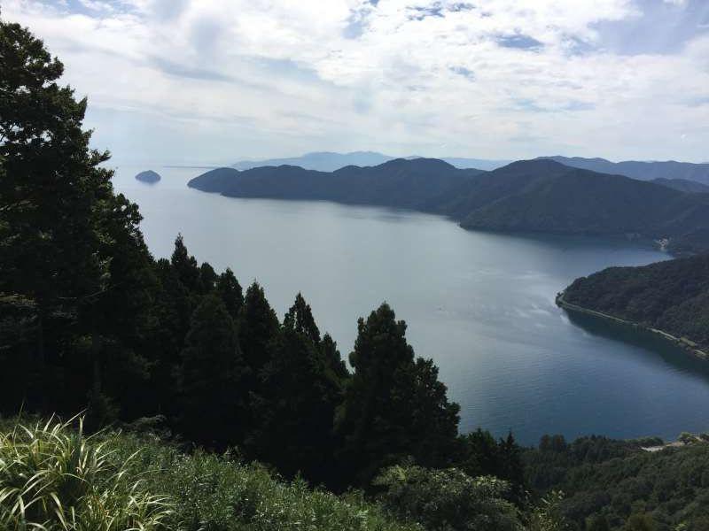 Lake Biwa and Surrounding Mountains Seen from the Summit of Mt. Shizugatake [2 of 2]