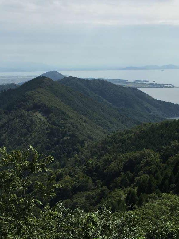Lake Biwa and Surrounding Mountains Seen from the Summit of Mt. Shizugatake [1 of 2]