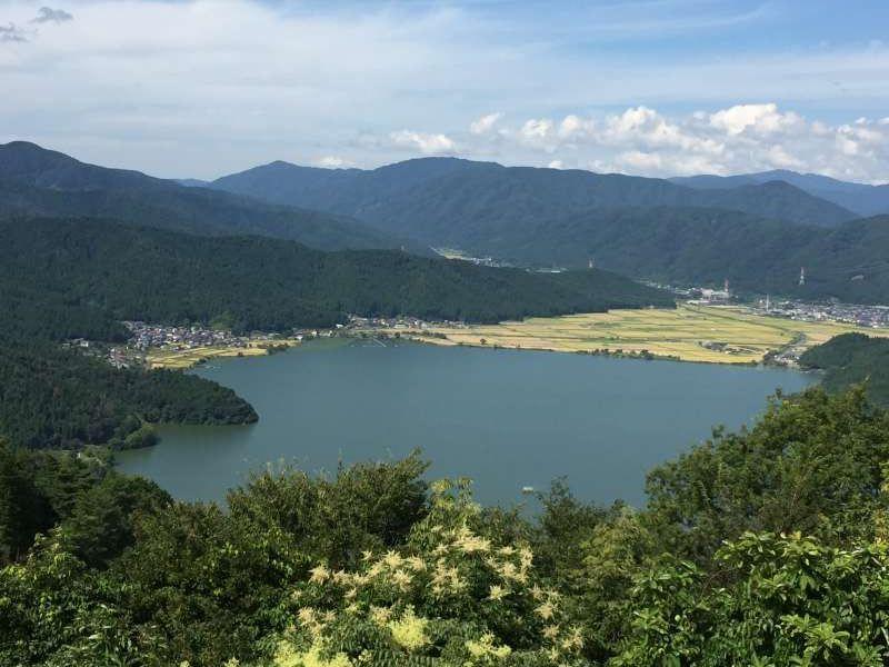 Lake Yogo Seen from the Summit of Mt. Shizugatake