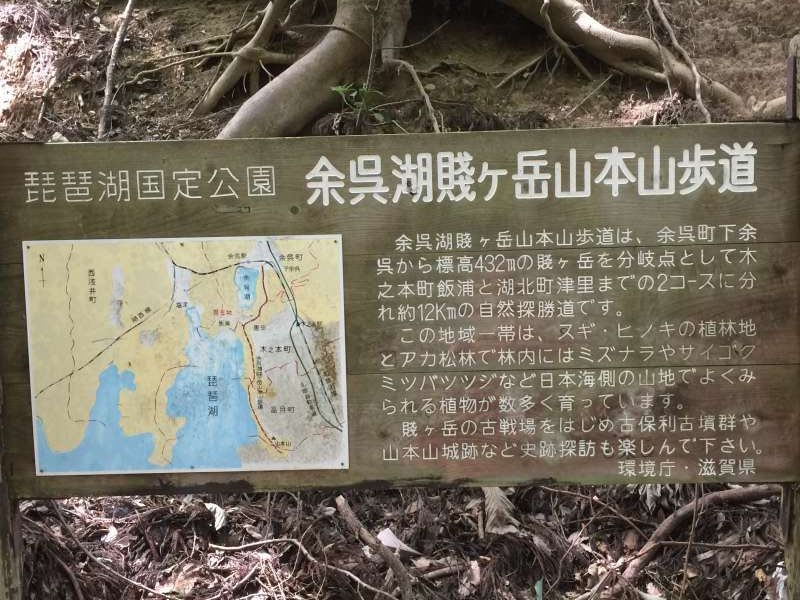 Destination Sign for the Summit of Old Battlefields, Mt. Shizugatake