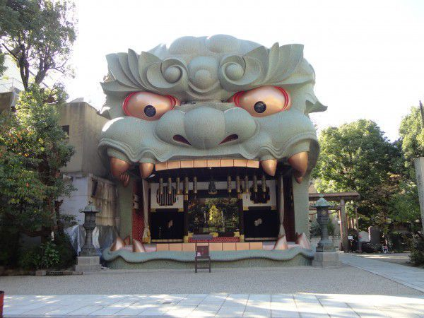 Giant Emaden at Namba Yasaka Shrine