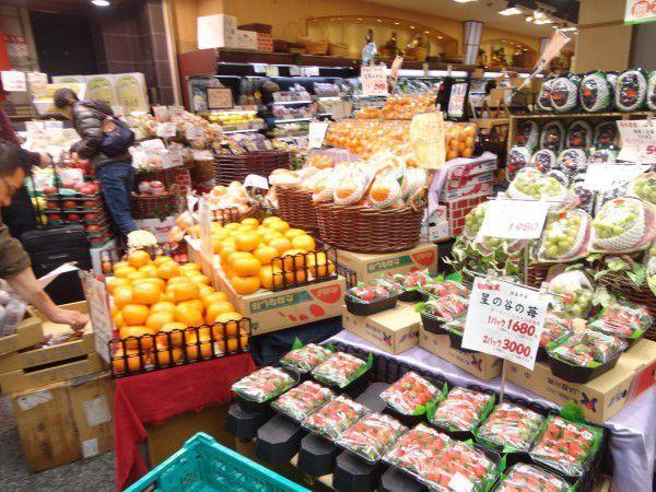 A fruit shop at Kuromon market