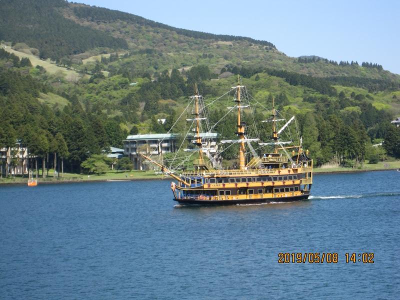 Pirate Ship on Lake Ashi: Inevitable transportation system in Hakone.