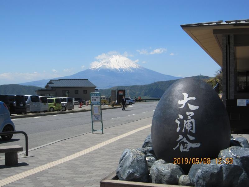 Mt. Fuji seen from Owakudani