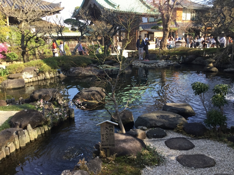 Stroll-style garden in Hase temple