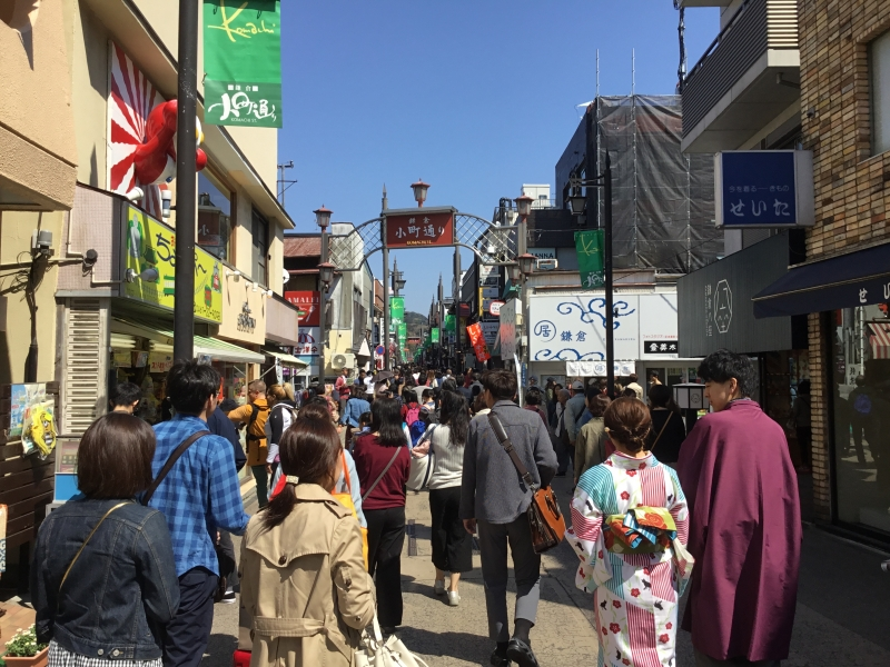 Komachi street where you can find various local souvenirs shops and restaurants