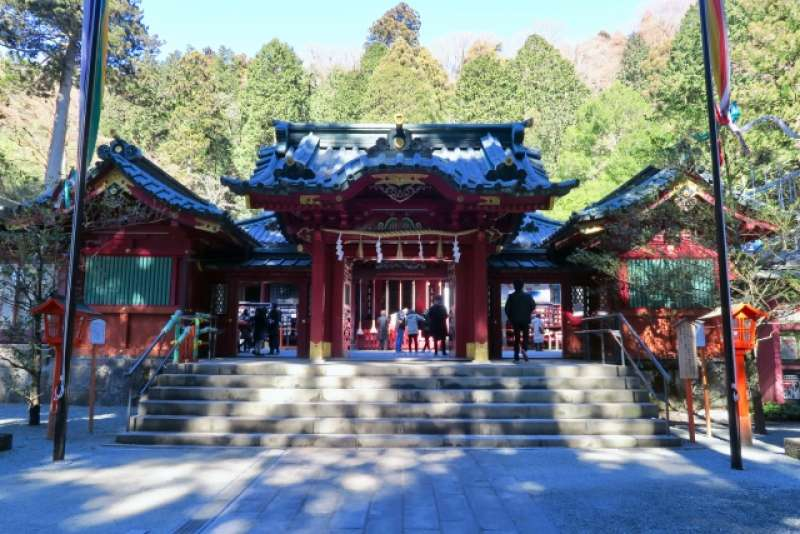 Hakone Jinja Shrine. A holy and popular spot in Hakone.