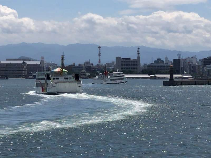 Ferries come and go, at Takamatsu Port