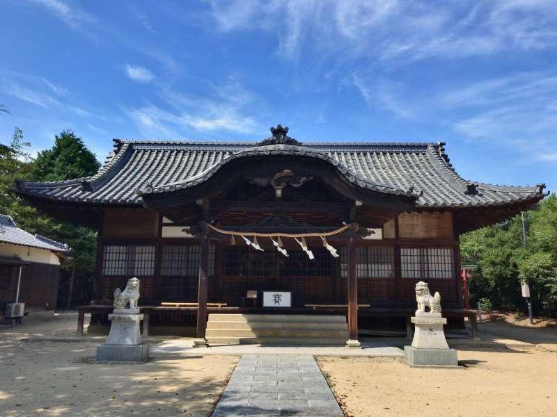 The main building of Hachiman Shrine, in Houmura area