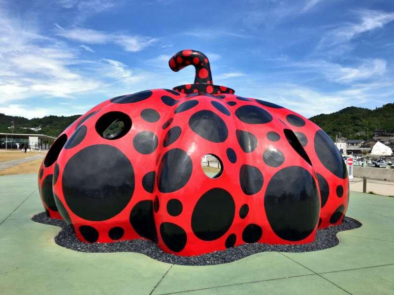 Red Pumpkin, designed by a world-famous artist Yayoi Kusama