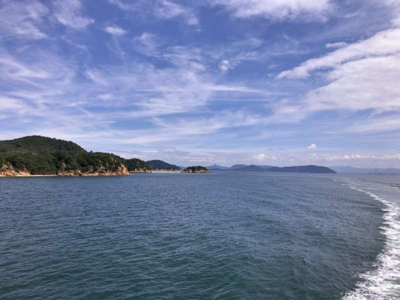 The Seto Inland Sea, dotted with numerous islands