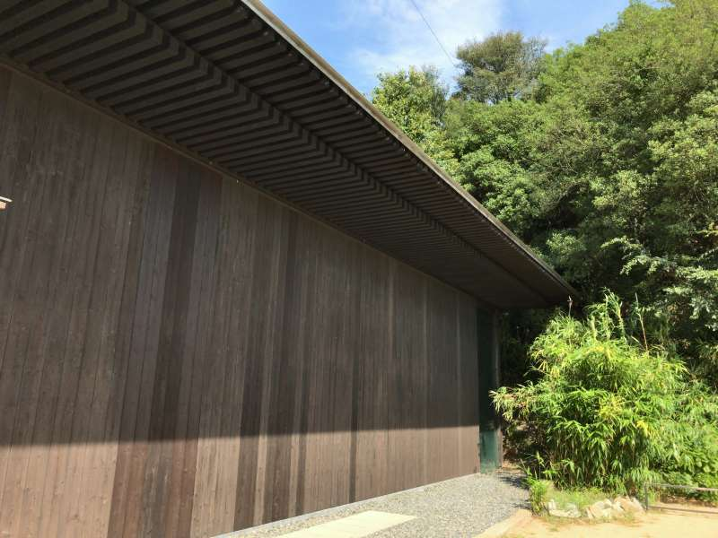 Art House Project Minamidera, the building is designed by Tadao Ando, in Houmura area