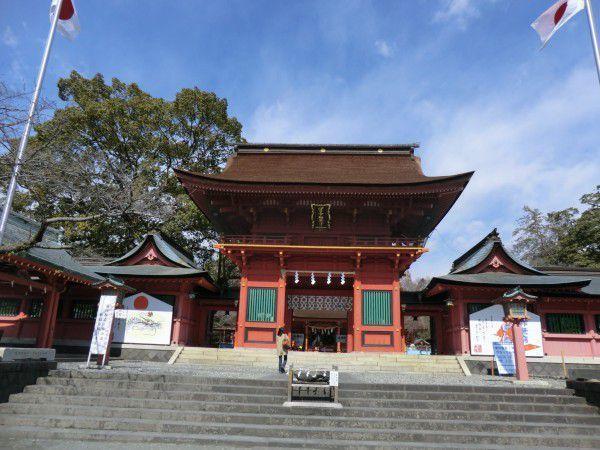 The main gate of Fujinomiya Sengen shrine