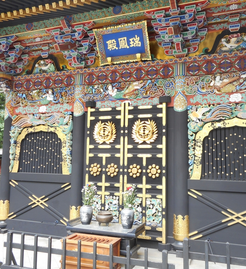 Zuihoden is a mausoleum for Date Masamune. The building is beautifully decorated with gold leaf and black lacquer.