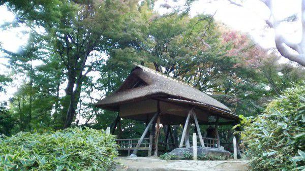 A teahouse in Rikugien Garden. You can feel quiet simplicity.
