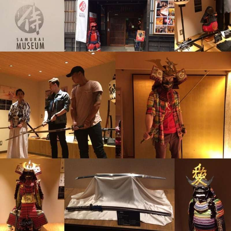 Samurai museum to have experience Japanese worriers clothing, swords and so-on.