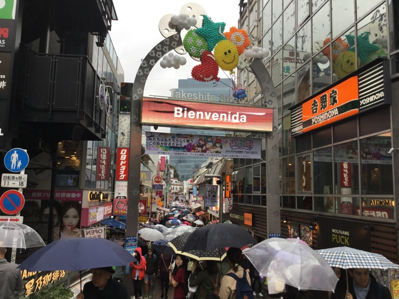 Harajyuki/Takeshita-street lined up with special shops and foods for young generations and culture.