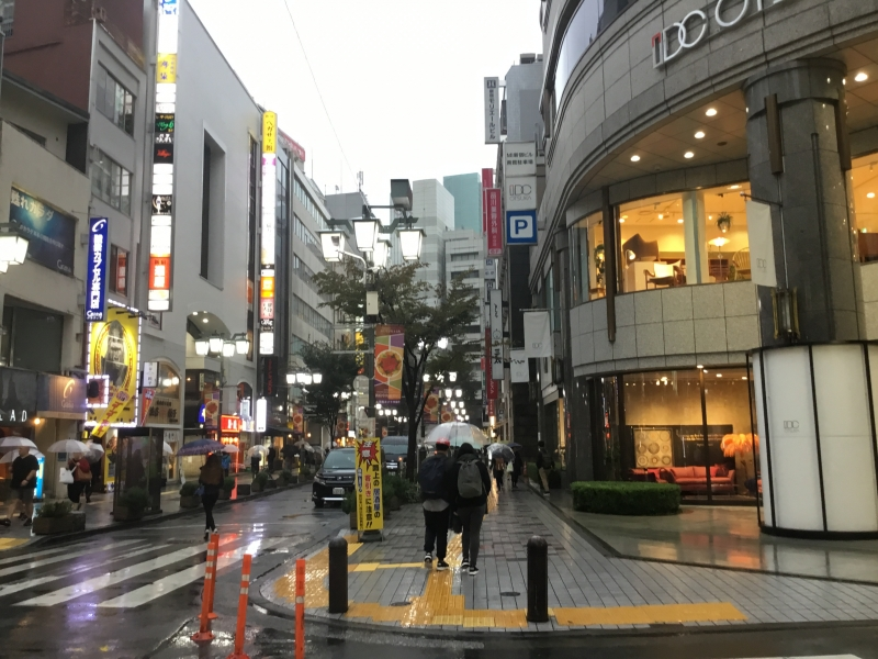 Bustling street in Shijuku where you can find lots of shops and restaurant