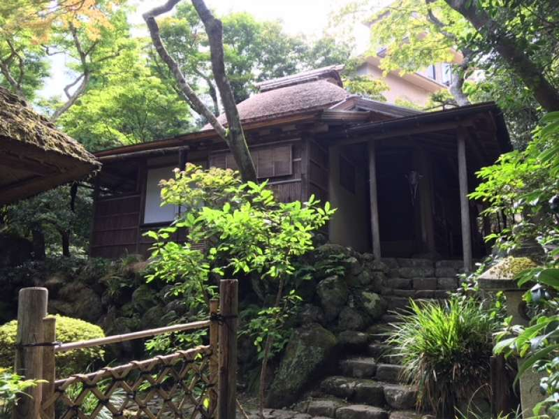 Gora Pard: Hakuundo Tea House  on the important cultural property.
