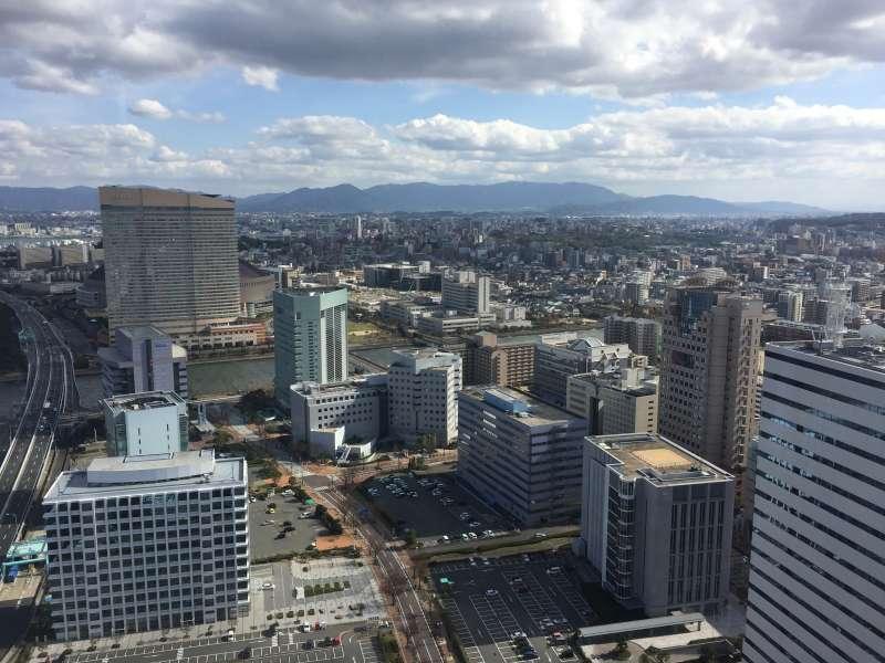 The view of Fukuoka city from Fukuoka tower