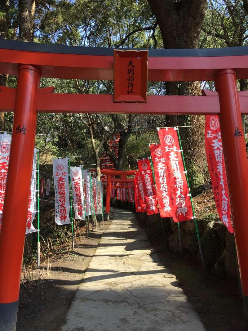 Tenkai Inari shrine next to Dazaifu Tenmangu shrine