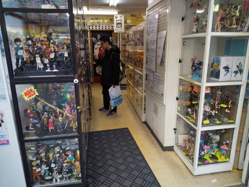 The figure shop in Akihabara.  Many Otaku people gather in Akihabara. Otaku is the people who addict of manga &anime.