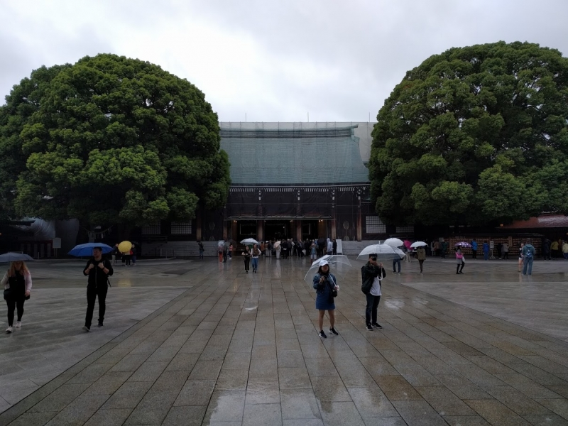 The main hall of Meiji shrine. Meiji shrine is one of the biggest shrine in Japan.