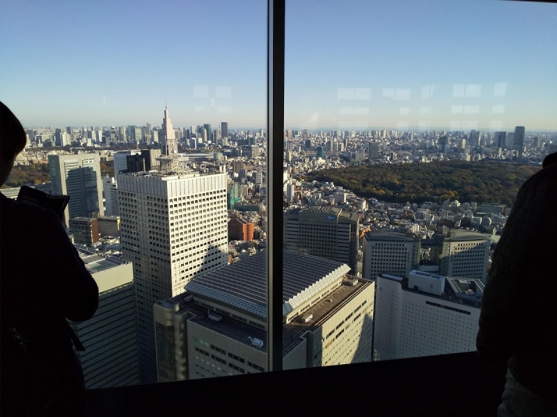 The 45th observatory of Tokyo government office building . You can see dynamic view of Tokyo.